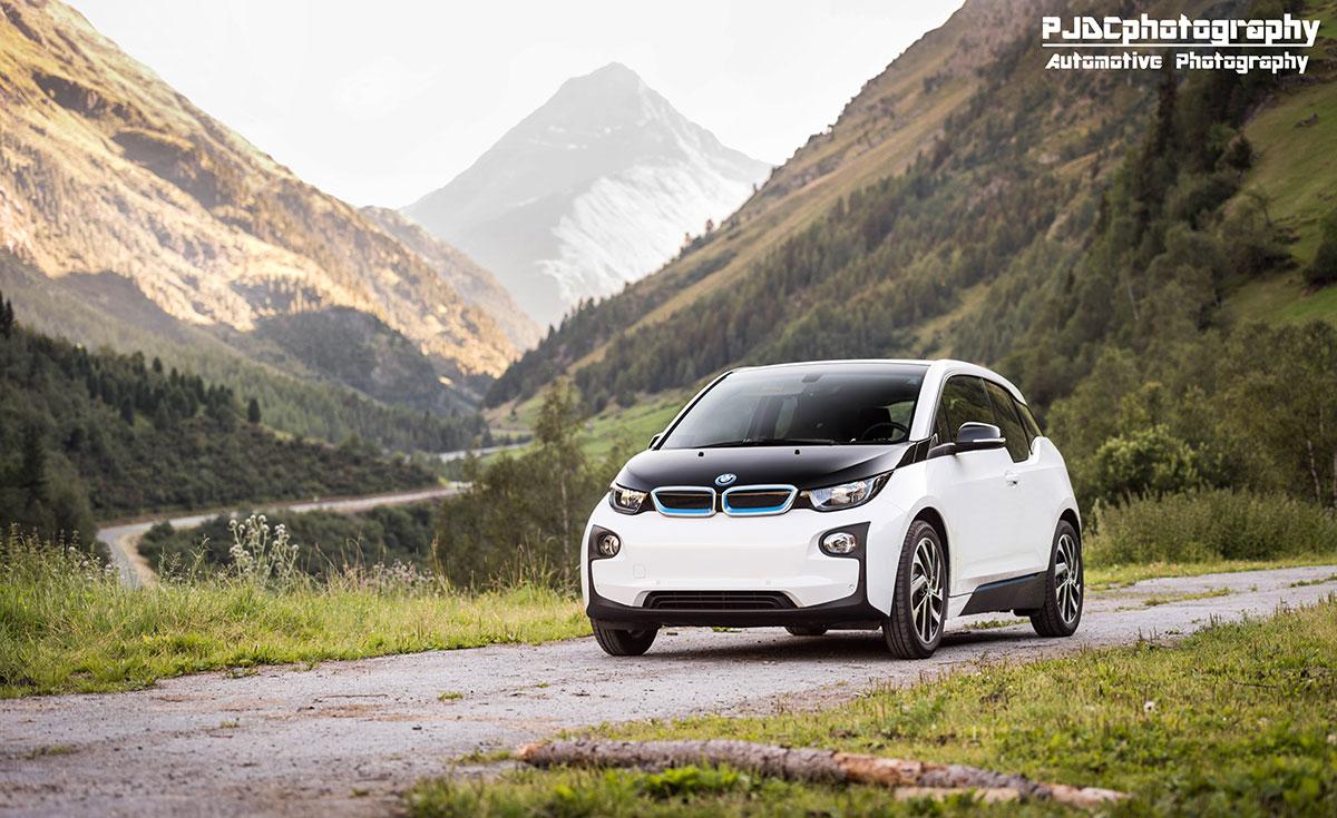 Met een BMW i3 door de bergen