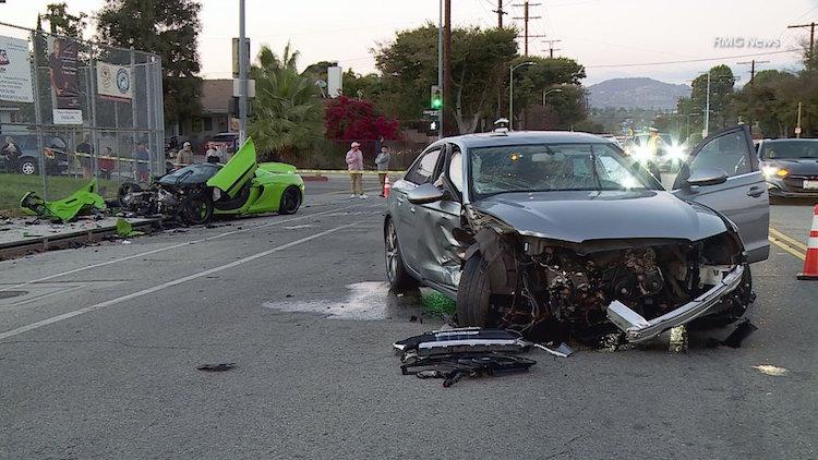 McLaren 650s Spider crasht