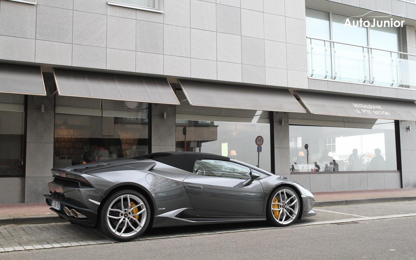 Gespot: 2x Lamborghini Huracán Spyder