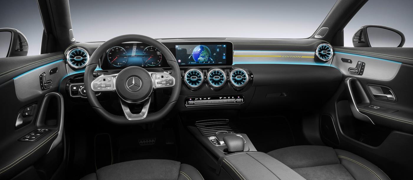 Het interieur van de nieuwe Mercedes A speelt een klasse hoger